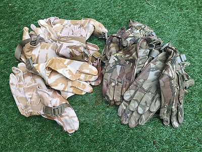 British Army Surplus Issue Desert Dpm,mtp Camo Leather Combat Gloves,odds L & R