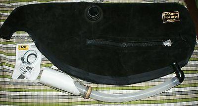 Bannatyne Hide Pipe Bag with Zip Highland Bagpipes pipes bottle water trap dri