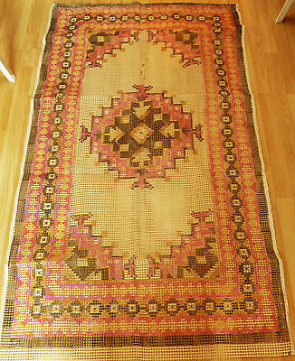 rug making latch hook large printed canvas approx 60 x 36 inches unstarted