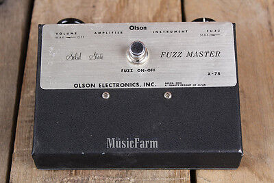 Vintage Olson Fuzz Master Germanium X78 Distortion Electric Guitar Effects Pedal