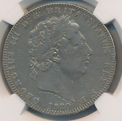 MAKE AN OFFER! -- Great Britain Crown 1820 LX - NGC VF Details