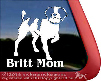 Britt Mom | High Quality Brittany Vinyl Bird Dog Gun Dog Window Decal Sticker