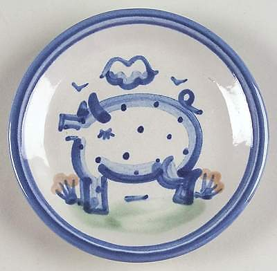 M A Hadley COUNTRY SCENE BLUE Pig Coaster 6131619