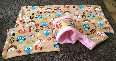 Snuggle Pouch, Liner, Lap pad, Tunnel for African Pygmy Hedgehog, Guinea Pig