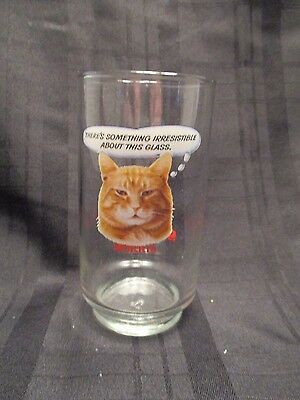 Vintage 9 Nine Lives Morris the Cat  Something Irresistable Glass  5 Inches