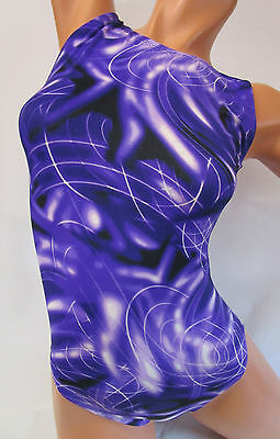 FlipFlop Leos Gymnastics Leotard,  Gymnast Leotards - PURPLE TIE DYE