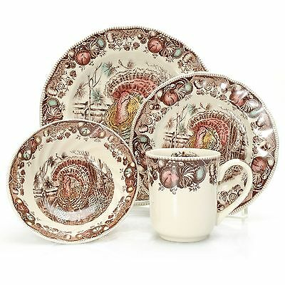 "Johnson Brothers ""His Majesty"" 16-Piece Earthenware Dinnerware Set (s) NEW"
