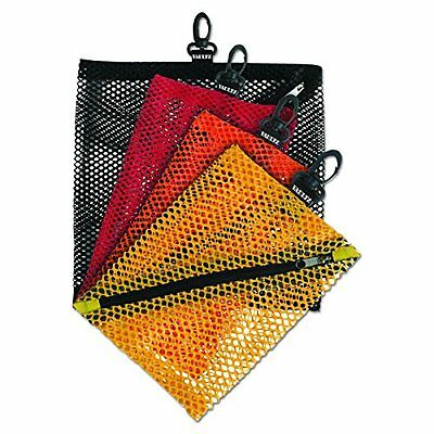 Vaultz Mesh Storage Bags Assorted Colors and Sizes 4 Bags VZ01211 Cd Dvd Wallet