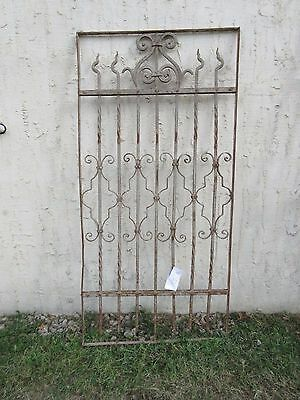 Antique Victorian Iron Gate Window Garden Fence Architectural Salvage #835