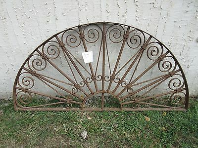 Antique Victorian Iron Gate Window Garden Fence Architectural Salvage #807