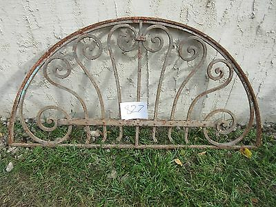 Antique Victorian Iron Gate Window Garden Fence Architectural Salvage #827