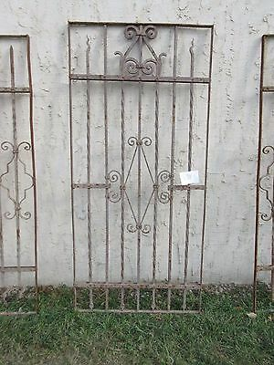 Antique Victorian Iron Gate Window Garden Fence Architectural Salvage #834