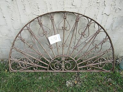 Antique Victorian Iron Gate Window Garden Fence Architectural Salvage #831