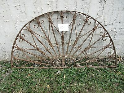 Antique Victorian Iron Gate Window Garden Fence Architectural Salvage #805