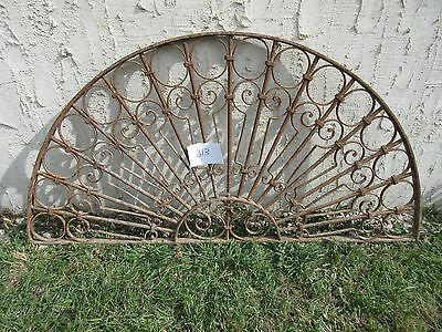 Antique Victorian Iron Gate Window Garden Fence Architectural Salvage #813