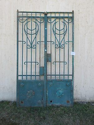 Antique Victorian Iron Gate Window Garden Fence Architectural Salvage #849