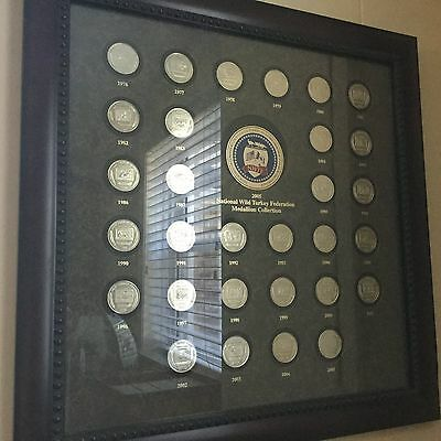 1976-2005 National Wild Turkey Federation Coin (NWTF) Framed Collection