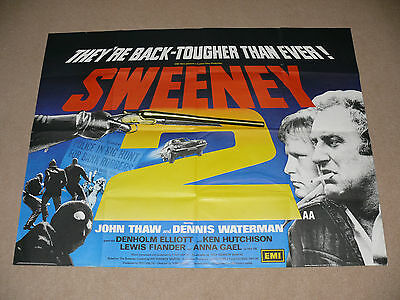 Original THE SWEENEY 2 Quad Film / Movie Poster - John Thaw & Dennis Waterman