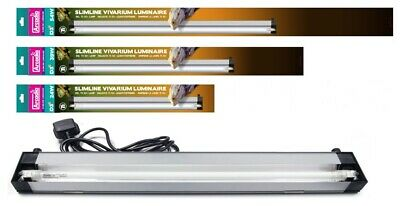 Arcadia Slim-Line Reptile Vivarium Luminaire D3+ T5 Lamp Light Tube + Reflector