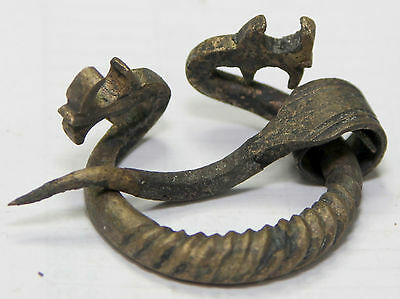 VIKINGS   BRONZE Classic FIBULA BROOCH .Men's Jewelry dragon head