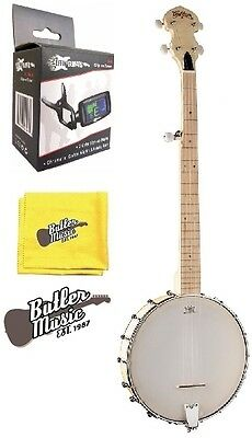 Washburn B102 Banjo Open Back 5 String Natural w/Effin Tuner + More SALE!
