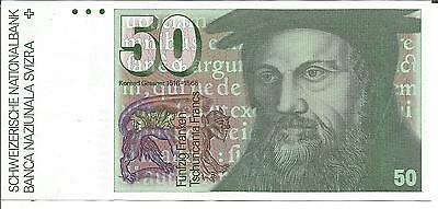 Switzerland 50 Franken 1988  P 56. Unc Condition. 4Rw 16Nov