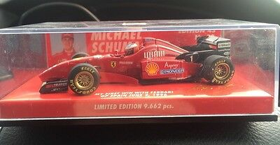 M Schumacher Ferrari 1996 First Win Spain 1/43 Minichamps Rare