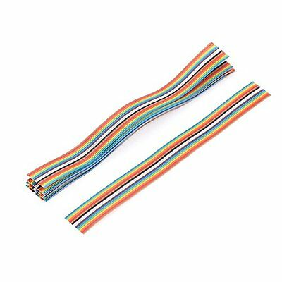 Uxcell IDC Wire 16 Pins Flat Ribbon Cable, 200 mm Length, Rainbow Color, 9