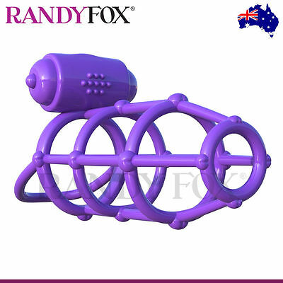 NEW PipeDream Fantasy C-Ringz Vibrating Climax Cage Cock Ring
