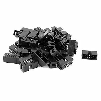 38 Pcs 2.54mm 2*5 10Pin Male IDC Socket Box Header Straight Connector