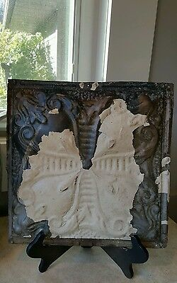 Anitque Decorative Ornate Metal Ceiling Tile - Great Vintage or Shabby Decor!!
