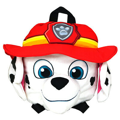 Paw Patrol Head Shaped Plush Backpack Red Marshall Official Licensed Product