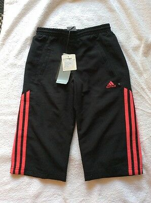 "BNWT ADIDAS 3/4 Cropped Trousers 24""  9-10 Yrs"