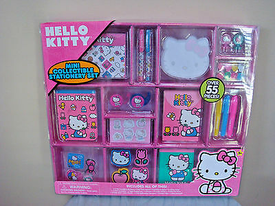 Hello Kitty Mini Collectible Stationery Set Over 55 Pieces - NEW