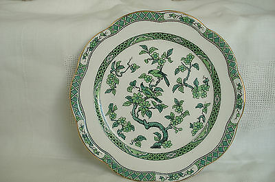 """Losol Ware Keeling And Co Green Manchu 9"""" Plate Vintage"""
