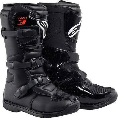 Alpinestars Tech 3s youth motocross offroad ATV boots Black size Y13
