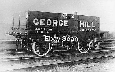 Railway Photograph Private Owner 8T 4 Plank Wagon No.2 George Hill - Lochee West