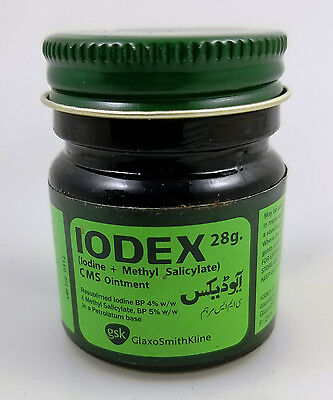 Iodex 28grams FDA APPROVED Ointment Iodine Methyl Salicylate Soothing Balm