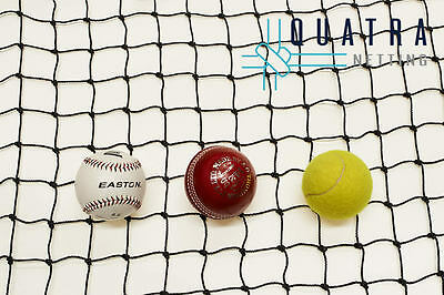 Black Cricket Net / Sports Barrier Netting  20m x 3.6m : Ball Stop net