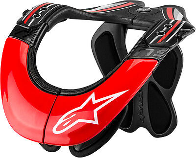 Alpinestars '17 BNS Tech Carbon neck support size L/XL Anthracite Red and White