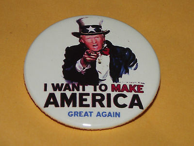 LARGER 38mm VOTE DONALD TRUMP BADGE PIN ELECTION USA CAMPAIGN POLITICAL G BUTTON