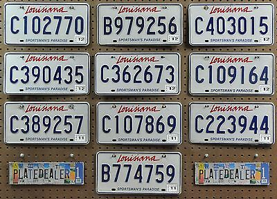 10 LOUISIANA Sportsman's Paradise License Plates Tags Signs Gift Shops LOT 770
