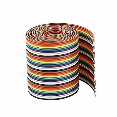 Uxcell IDC Wire 40Pin Flat Ribbon Cable Conductor, 1.27 mm, 1 m Pitch
