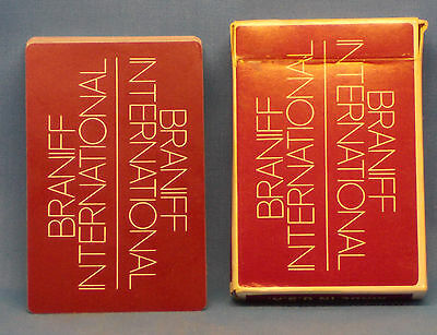 BRANIFF INTERNATIONAL AIRLINES Deck of Playing Cards English Spanish Portuguese