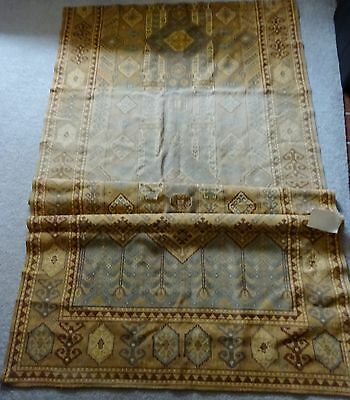 "ANTIQUE Victorian ERA Fabric KILIM 50"" by 90"" for PILLOWS Upholstery TEXTILE"