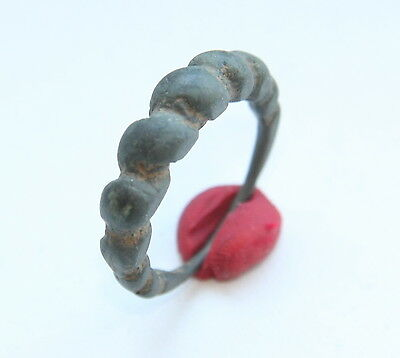 Ancient Viking Pseudo Twisted Bronze Ring (OCR55)