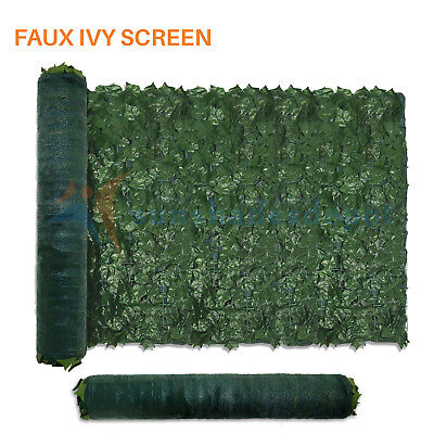 Artificial Ivy Green Leaf Privacy Fence Gate Screen Panels Wall Cover Decoration