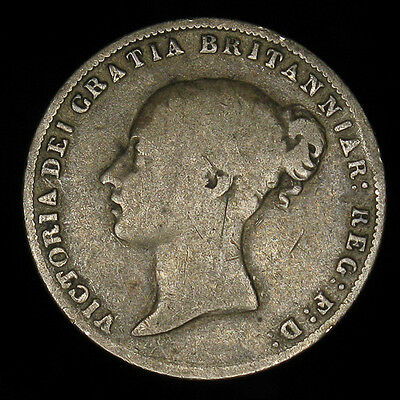 1864 Great Britain 6 Six Pence silver