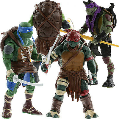 Teenage Mutant Ninja Turtles Classic Collection Action Figures TMNT 4 Pcs Toys