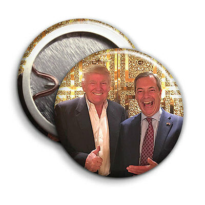 Right-Wingers GIFT Donald Trump and Nigel Farage 2016 Button Badge - 25mm 1 inch